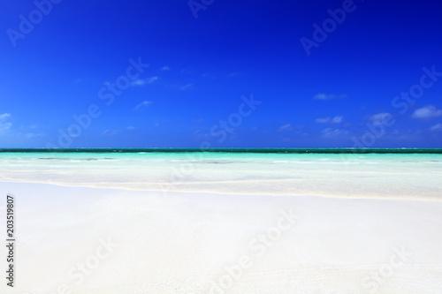 Plexiglas Donkerblauw Beautiful beach, Cayo Guillermo, Cuba