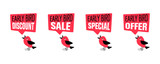 Early bird special, discount, sale or offer banner or poster - 203526892