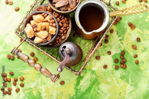 Canvas Koffiebonen Roasted coffee beans
