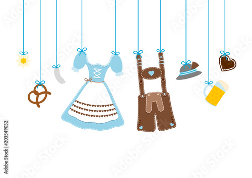 Straight Hanging Octoberfest Symbols Blue - 203549032