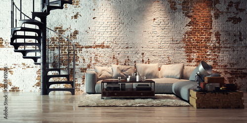 sofa in old vintage brick wall loft - apartment in alten Ziegel Loft - 203549206