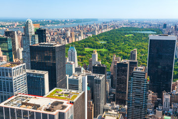 New York skyline and Central Park