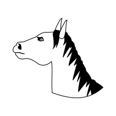 Horse head cartoon vector illustration graphic design