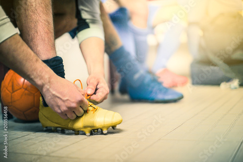 Fotobehang Voetbal Getting ready for the match