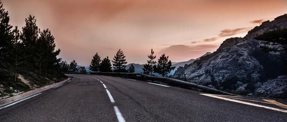 Panorama von einer Straße in den Bergen Korsika Col de Bavella