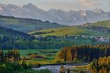 Przełom Białki- widok na Tatry
