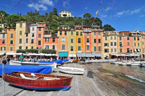 Fotobehang Liguria The harbour at Portofino, Golfo del Tigullio, Liguria, Italian Riviera, Italy.
