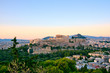 Athens Greece, Parthenon and Acropolis panoramic view
