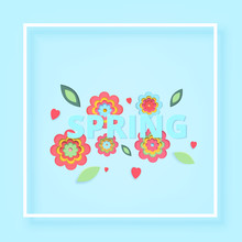 Spring Text  Illustration Sticker