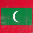 scratched Maldives flag