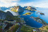 View of Reine in Lofoten, Norway - 203670817