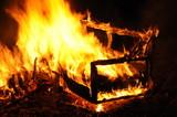Wohnungsbrand, Sofa brennt