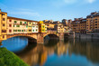 Quadro Bridge Ponte Vecchio in Florence, Italy