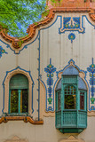 Detail of House of architect Ferenc Raichle in Hungarian Art Nouveau style. Subotica, Serbia - 203678238