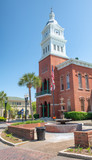 Ancient buildings and square of Fernandina Beach, Florida - 203681860