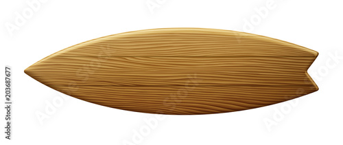 Fototapeta Clean Wooden Surfboard