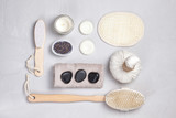 Set of traditional spa products. Natural body care concept