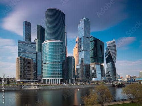 Plexiglas Moskou Moscow City modern urban landscape. Russia