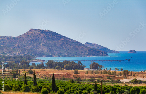 Plexiglas Cyprus Morpou bay, Karavostasi and Limnitis viewed from Lefka area in Cyprus