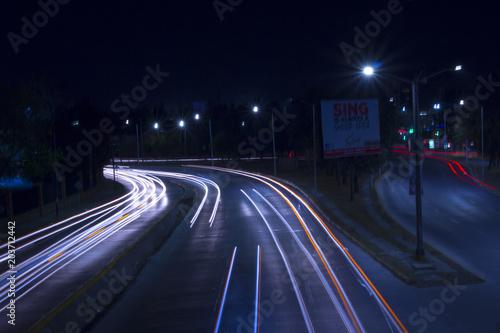 Plexiglas Nacht snelweg Espectro
