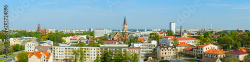 Fototapety, obrazy : panoramic view of the spring city