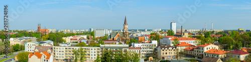 Zdjęcia na płótnie, fototapety na wymiar, obrazy na ścianę : panoramic view of the spring city