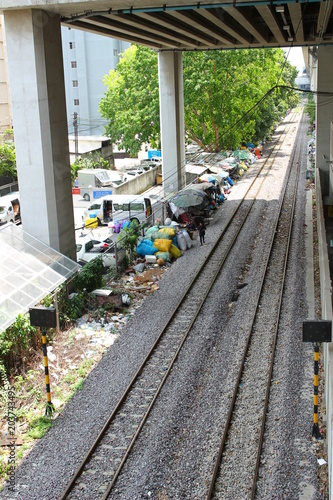 Plexiglas Spoorlijn タイ バンコク 国鉄 線路