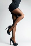 Black Tights. Female Legs With Pantyhose - 203755667