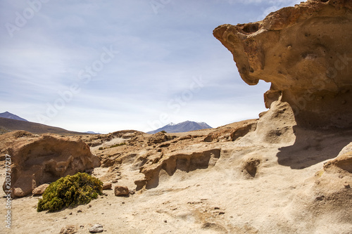 Rock formations of Dali desert in Bolivia