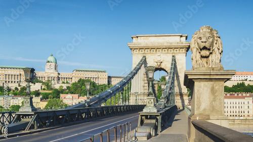 Canvas Boedapest Budapest Chain Bridge