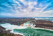 Niagara falls between United States of America and Canada.
