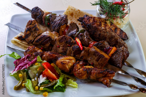 Barbeque meat mix