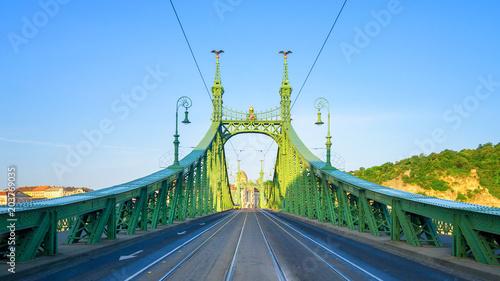 Steel Bridge Budapest near Subway Station Fovam Ter