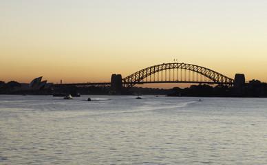 Silhouette of Sydney Harbor Bridge