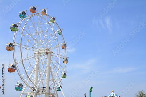 Fotobehang Amusementspark 観覧車