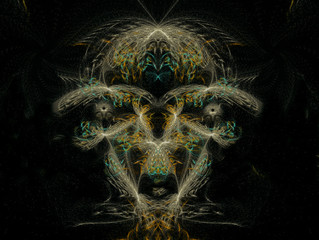 Computer Generated Art. Abstract multicolored fractal. 3D rendering.