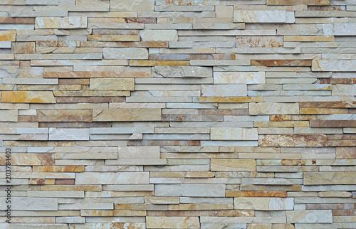 Canvas Stenen Flat stones wall background