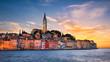 Leinwanddruck Bild - Sunset in Rovinj, Croatia