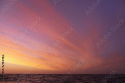 Aluminium Zee zonsondergang Sunset, Scotia Sea, Antarctic