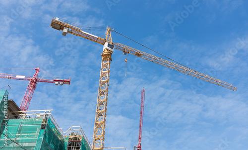 Obraz na płótnie high cranes on the construction site.