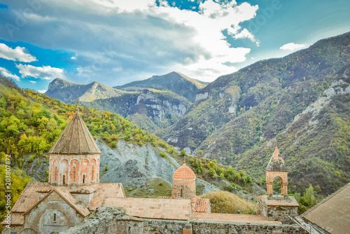 Plexiglas Beige Dadivank monastery, Artsax