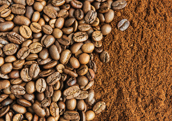 Coffee Beans and Grounds
