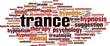 Постер, плакат: Trance word cloud