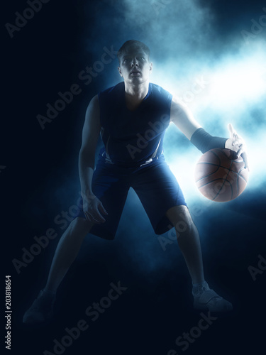 Plexiglas Basketbal Basketball player