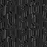 3D dark paper art Polygon Geometry Arrow Cross Frame