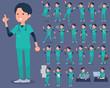 flat type surgical operation green wear men_1