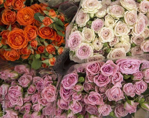 Foto Murales Bouquets of roses