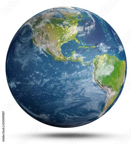 Fototapeta Planet Earth geography. 3d rendering