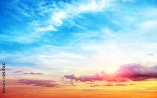 Aluminium Zonsopgang Sunrise summer sky panorama