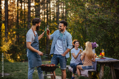 Barbecue tastes better with beer